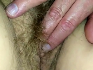 Perfect amateur bbw with glasses fingering her hairy pussy
