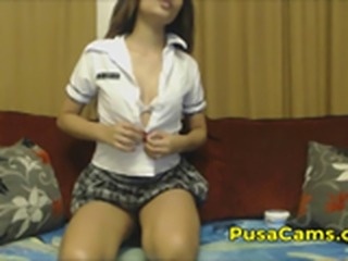 Desi Indian School Girl Masturbating Shaved Pussy for Foreigner