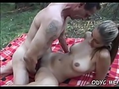 Sexy babe gives steamy tit fuck