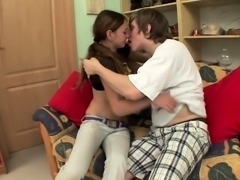 Russian teen that loves big cock