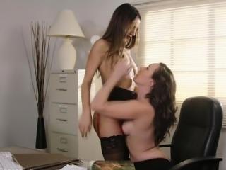 Sinn Sage munching on Lily Adams pussy