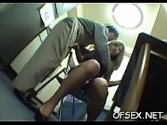Cute office cutie gets punished for sleeping on the job