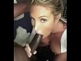 Sexy Blonde Nympho Loves Big Black Cock