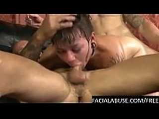 Hardcore BJ and anal for tattoed slut