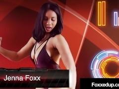 Ebony Jenna Foxx & Inked RedHead Savana Styles Wrestle Nude!
