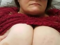 BBW wife Blindfolded Cumshot