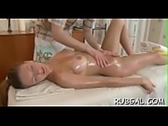 Sexy oil massage