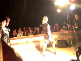 Sensuous dancers in hot lingerie put on a magnificent show