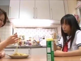 Asian Schoolgirl Seduces Helpless Housemom 1