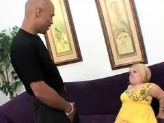 Cute Blonde Midget Tries a Bbc