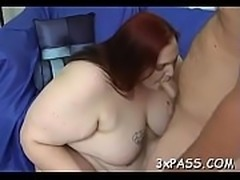 Raunchy plump is feeling fat rod stuffing throat and snatch