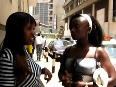 Sinful black babes from Africa are having passionate sex on