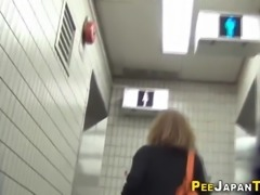 Japanese whores urinating