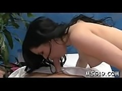 Pretty massage beauty in dark lingerie likes to ride big cocks