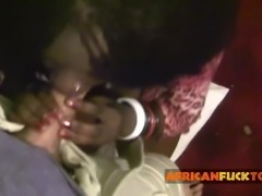 Real African Hooker Filmed By Client