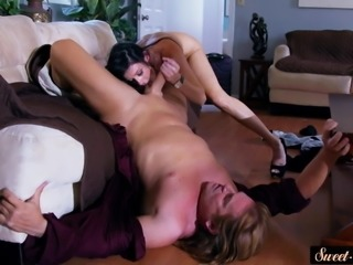 Lovely milf doggystyled after sucking