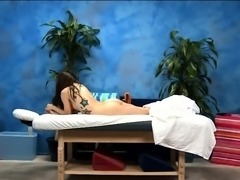 Gogeous legal age teenager gets fucked hard by her massagist