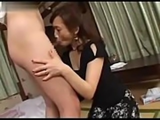 Datingsolo.com - Amazed Japanese Mom Caught Husbands Young Cousin Masturbating on Porn Magazine