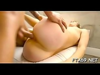 Deliciously fuckable slut gets super moist and gangbanged hard
