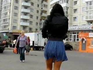 Upskirt hot russian girl