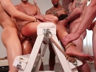 rough gang bang & rope bondage
