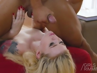 GIRLSRIMMING - Misha Cross prostate massage with rimming