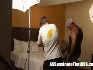 BTS Jay Assassin FUCKs CreamPie Cathy on Porn set