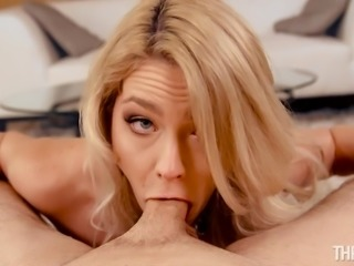 Lisey has a pretty face and an equally pretty mouth. Of course, she looks much better when that mouth has something in it, like a big dick. The cute blonde is on her knees with every inch down her throat, sucking until she gets that big explosion of cum on her tongue and face.