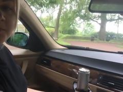 Public blowjob in car park