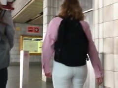 White jeans ass