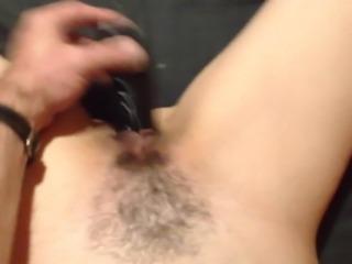 Orgasm with dildo