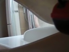 Friend wife hairy pussy hidden spycam bathroom