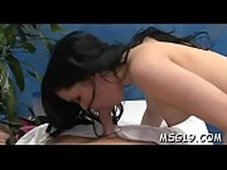 Pretty massage beauty in dark lingerie likes to ride big cocks