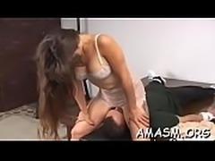 Woman smothering hubby in crazy home porn episode