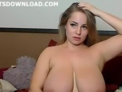Impressive babe with huge tits
