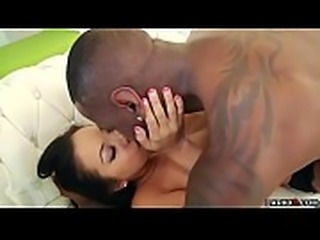 Morgan Lee anal fuck on top of Jon Jons black cock