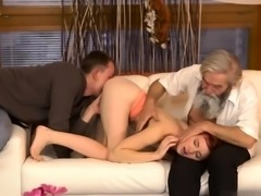 Teen huge cock handjob xxx Unexpected practice with an older