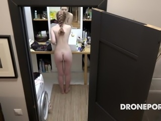Czech ginger Alexandra - Hiddne spy camera in bathroom