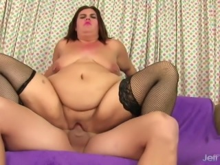 A Long Dicked Guy Fucks a Fatty in Her Tight Ass