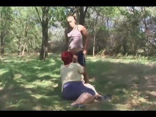BBW Mature Redhead Likes To Fuck Outdoor