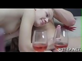 Wicked chick opens up her legs for dudes wild penetration
