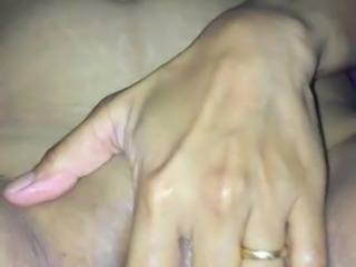 wife plays with pussy