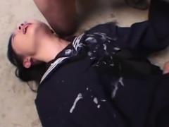 Innocent Japanese Schoolgirl Gangbang Japanese Bukkake Orgy