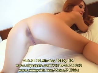 Luna Lain's 1st Exotic Bed Tease
