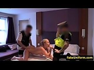 Pulled euro beauty spitroasted by cops