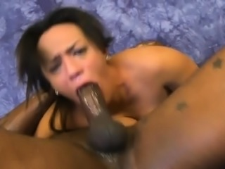 Black Amateur Street Whore Gagging On Great Big Black Dick