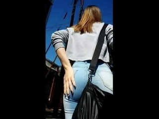 Showing Ass Tight Jeans