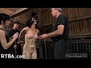 Fastened up beauty receives vicious pleasuring for her pussy