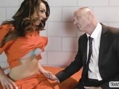 fabulous tbabe chanel santini fucks hard inside the jail