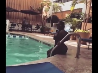 Phat ass in swimming suit